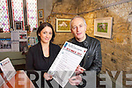 Carol O'Mahony-Foley and Joe Murphy in St. John's Theatre and Arts Centre, Listowel launching their Christmas Programme.