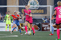 Rochester, NY - Saturday Aug. 27, 2016: Denise O'Sullivan, Samantha Mewis during a regular season National Women's Soccer League (NWSL) match between the Western New York Flash and the Houston Dash at Rochester Rhinos Stadium.