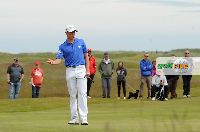 Grant Forrest of Craigielaw during the Final of the 120th Amateur Championship at Carnoustie Golf Links, Carnoustie, Scotland. Picture: Golffile   Richard Martin Roberts<br /> All photo usage must carry mandatory copyright credit (&copy; Golffile   Richard Martin Roberts)