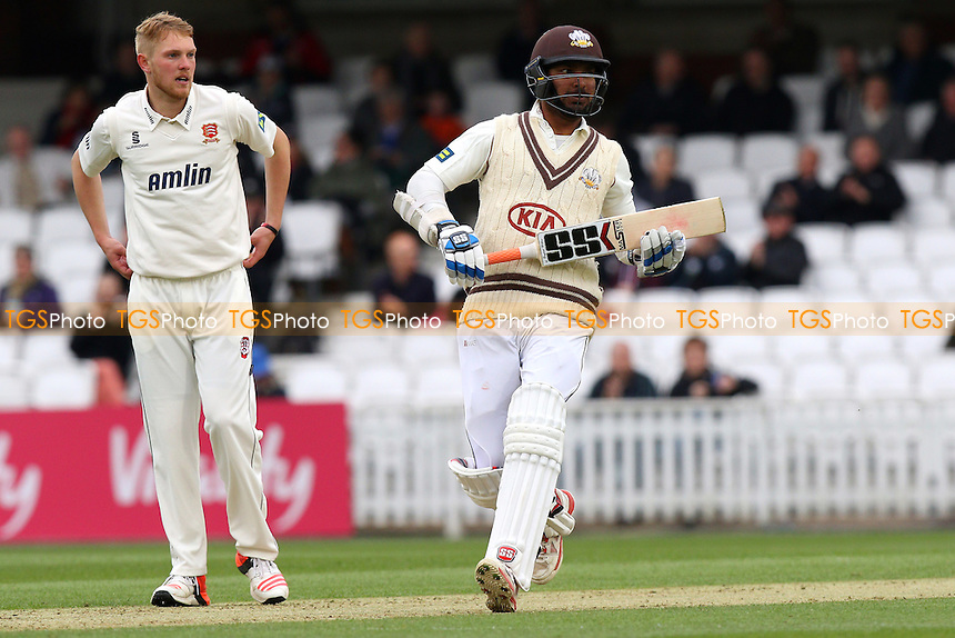 Kumar Sangakkara in batting action for Surrey - Surrey CCC vs Essex CCC - LV County Championship Division Two Cricket at the Kia Oval, Kennington, London - 26/04/15 - MANDATORY CREDIT: Gavin Ellis/TGSPHOTO - Self billing applies where appropriate - contact@tgsphoto.co.uk - NO UNPAID USE
