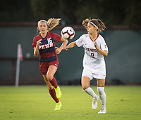 STANFORD, CA - August 30, 2019: Kattalin Stahl at Maloney Field at Laird Q. Cagan Stadium. The Cardinal defeated the University of Pennsylvania Quakers 5-1.