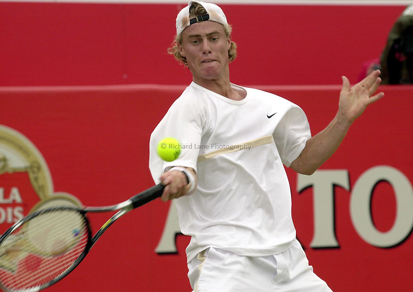 Photo:Ken Brown .11/06/2001. .Stella Artois Championship 2001 .Lleyton Hewitt in his victory over Malisse..