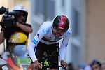 Egan Bernal (COL) Team Ineos loses time on the 17% climb during Stage 13 of the 2019 Tour de France an individual time trial running 27.2km from Pau to Pau, France. 19th July 2019.<br /> Picture: Colin Flockton | Cyclefile<br /> All photos usage must carry mandatory copyright credit (© Cyclefile | Colin Flockton)