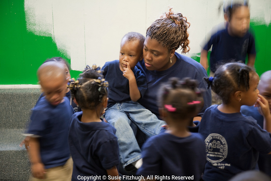 Children try to settle their differences at the Clear Head Learning Center, New Orleans LA: