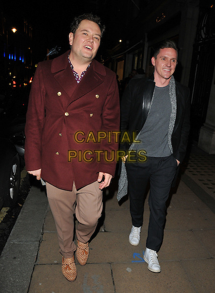 Alan Carr and Scott Neal at the Jean-David Malat: BritARTnia private view, Opera Gallery, New Bond Street, London, England, UK, on Tuesday 22 November 2016. <br /> CAP/CAN<br /> &copy;CAN/Capital Pictures