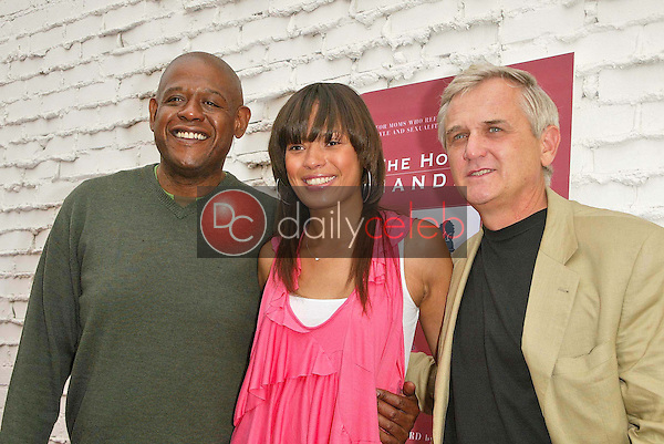 Forest Whitaker with Keisha Whitaker and David Dunham<br />the Hot Mom's Club Book Launch Party. NanaÕs Garden, Los Angeles, CA. 04-29-06<br />Jason Kirk/DailyCeleb.com 818-249-4998