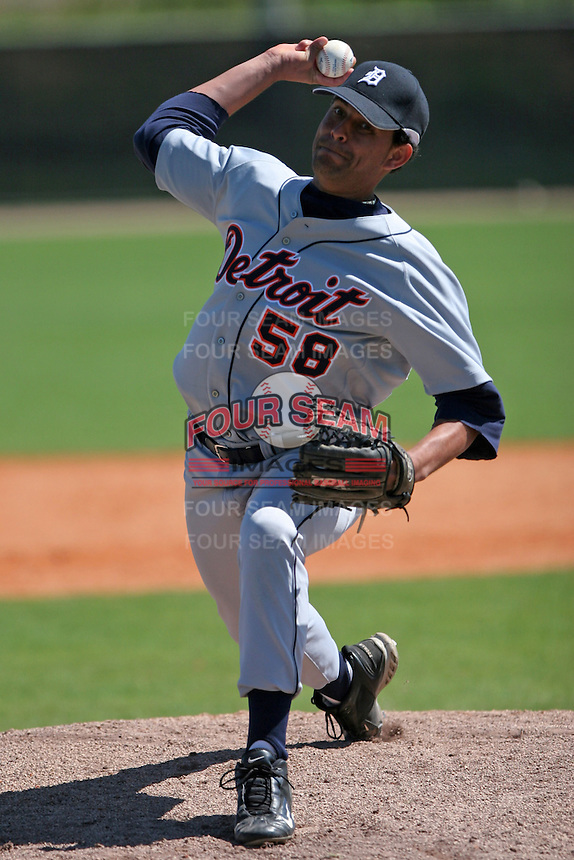 Detroit Tigers minor leaguer Luis Gil during Spring Training at the Chain of Lakes Complex on March 17, 2007 in Winter Haven, Florida.  (Mike Janes/Four Seam Images)