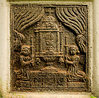 This 17th century chapel lies one of the forgotten bylanes of Goa on the way to Reis Magos. The ancient stone carvings at the entrance are remarkable.