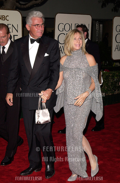 23JAN2000:  Actress/singer/director BARBRA STREISAND & actor husband JAMES BROLIN at the Golden Globe Awards where she was presented with the Cecil B. DeMille Award..© Jean Cummings/Paul Smith / Featureflash