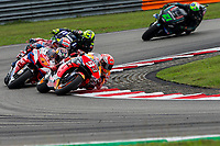 3rd November 2019; Sepang Circuit, Sepang Malaysia; MotoGP Malaysia, Race Day;  Marc Marquez, Jack Miller, Andrea Dovizioso, Valentino Rossi and Franco Morbidelli during the race - Editorial Use