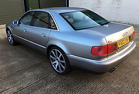 BNPS.co.uk (01202) 558833. <br /> Pic: Bonhams/BNPS<br /> <br /> Whole Lotta saloon car...Most people would associate hell raising rock stars with Ferraris, Lamborghini's and Rollers...<br /> <br /> But this sedate Audi saloon car formerly owned by Led Zeppelin front man Robert Plant is being auctioned for just £6,000.<br /> <br /> The understated S8 saloon was bought from new by the iconic musician in 2002 and he used it as his every day run around.<br /> <br /> Despite the 71-year-old's legendary reputation as a hell raiser, the Audi is actually relatively refined and enjoys a soft and comfortable ride.