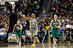 03 APR 2012:  Odyssey Sims (0) of Baylor University pumps up the fans after a basket against the University of Notre Dame during the Division I Women's Basketball Championship held at the Pepsi Center in Denver, CO.  Jamie Schwaberow/NCAA Photos