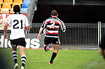 Grant Henson races down the sideline to score in Henson corner for the second week in a row during the Air New Zealand Cup rugby game between Counties Manukau & Hawkes Bay played at Mt Smart Stadium, 30th of September 2006. Hawkes Bay won 30 - 29.