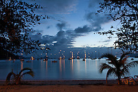 Night sky in Cane Garden Bay<br /> Tortola<br /> British Virgin Islands