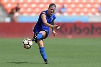Houston, TX - Saturday May 27, 2017: Christine Nairn passes the ball during a regular season National Women's Soccer League (NWSL) match between the Houston Dash and the Seattle Reign FC at BBVA Compass Stadium.