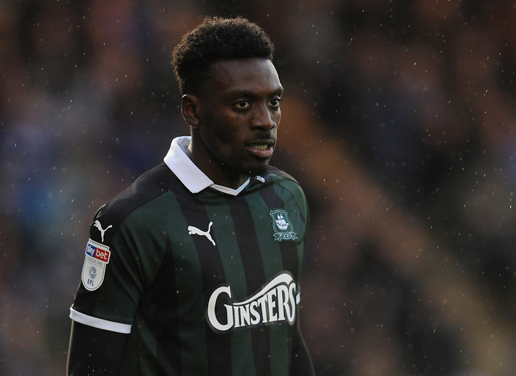 Plymouth Argyle's Freddie Ladapo<br /> <br /> Photographer Kevin Barnes/CameraSport<br /> <br /> The EFL Sky Bet League One - Plymouth Argyle v Fleetwood Town - Saturday 24th November 2018 - Home Park - Plymouth<br /> <br /> World Copyright © 2018 CameraSport. All rights reserved. 43 Linden Ave. Countesthorpe. Leicester. England. LE8 5PG - Tel: +44 (0) 116 277 4147 - admin@camerasport.com - www.camerasport.com