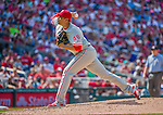 24 May 2015: Philadelphia Phillies pitcher Jeanmar Gomez on the mound against the Washington Nationals at Nationals Park in Washington, DC. The Nationals defeated the Phillies 4-1 to take the rubber game of their 3-game weekend series. Mandatory Credit: Ed Wolfstein Photo *** RAW (NEF) Image File Available ***
