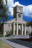 Honolulu: Kawaiaho Church, 1342. Material--1000 lb. coral blocks. Photo '82.
