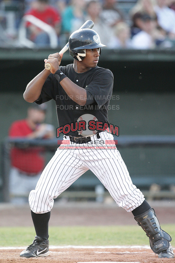 August 11, 2009: Julio Aparicio of the Idaho Falls Chukars. The Chukars are the Pioneer League affiliate for the Kansas City Royals. Photo by: Chris Proctor/Four Seam Images