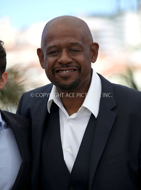 WWW.ACEPIXS.COM....US Sales Only....May 26 2013, Cannes....Forest Whitaker at the photocall for 'Zulu' during the Cannes Film Festival on May 26 2013  in France ....By Line: Famous/ACE Pictures......ACE Pictures, Inc...tel: 646 769 0430..Email: info@acepixs.com..www.acepixs.com
