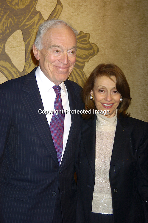Leonard Lauder and wife Evelyn Lauder ..at the opening of The 51st Annual  Winter Antiques Show on January 20, 2005 at the Seventh Regiment Armory. in New York City...Photo by Robin Platzer, Twin Images