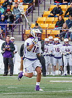 University at Albany Men's Lacrosse defeats Cornell 11-9 on Mar 4 at Casey Stadium.  Troy Reh (#10).
