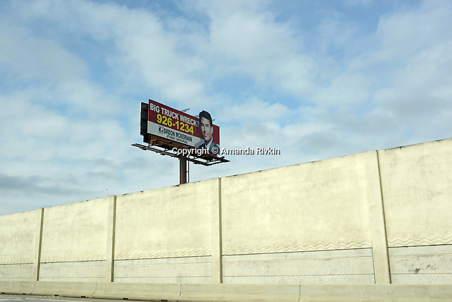 A billboard for a personal injury attorney in Baton Rouge, Louisiana on January 11, 2013.