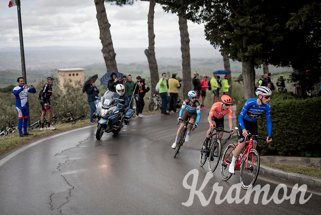 Maglia Azzurra / KOM leader Giulio Ciccone (ITA/Trek-Segafredo) is part of the day's breakaway to collect as much KOM-points along the way as possible <br /> <br /> Stage 2: Bologna to Fucecchio (200km)<br /> 102nd Giro d'Italia 2019<br /> <br /> ©kramon