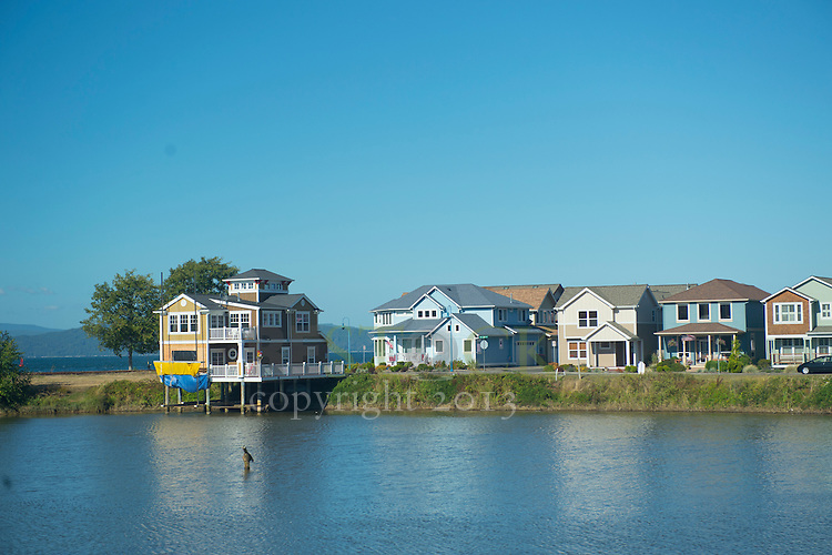 Multiple Houses on a Lake