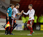 Ben Whiteman of Sheffield Utd  makes his senior debut replacing Paul Coutts of Sheffield Utd - English League One - Sheffield Utd vs Burton Albion - Bramall Lane Stadium - Sheffield - England - 1st March 2016 - Pic Simon Bellis/Sportimage