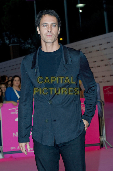 Raoul Bova .The 2012 RomaFictionFest at Auditorium Parco della Musica, Rome, Italy..October 3rd, 2012.half length black grey gray suit jacket top.CAP/IPP/FC.©FC/IPP/Capital Pictures.