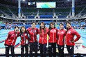 (L-R) Natsumi Hoshi, Sakiko Shimizu, Rie Kaneto, Yayoi Matsumoto, Misaki Yamaguchi, Miho Takhashi, Satomi Suzuki (JPN), <br /> AUGUST 13, 2016 - Swimming : <br /> the Rio 2016 Olympic Games at Olympic Aquatics Stadium in Rio de Janeiro, Brazil. <br /> (Photo by Yohei Osada/AFLO SPORT)