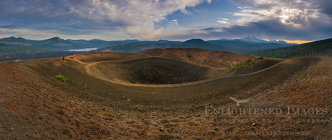 Looking into the colcanic vent crater at the top of the Cinder Cone, Lassen Volcanic National Park, California