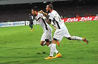 Gol  Franco Vazquez  durante l'incontro  di calco d Seriden A  tra SSC Napoli e US Palermo    allo stadio San Paolo di Napoli , 24 Settembre  2014