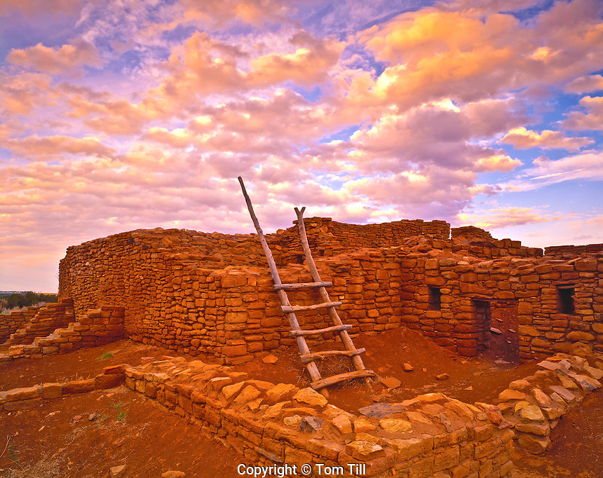 Lowry Ruin & Dawn Clouds, Lowry Pueblo Ruins, Colorado  Canyons of the Ancients National Monument, Large Ancestral Puebloan Ruin
