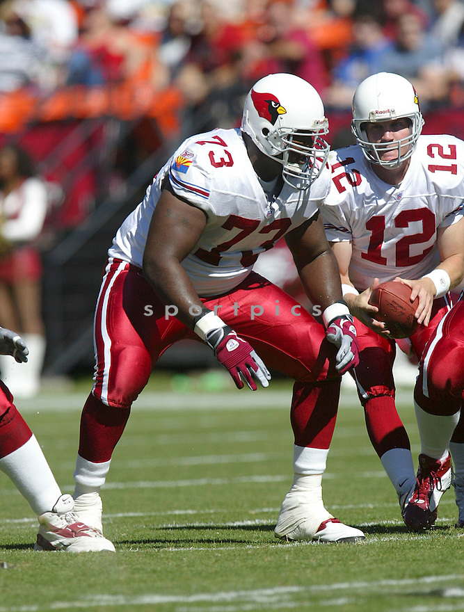 Jeremy Bridges during the Cardinals v. 49ers game on October 10, 2004...49ers win 31-28..Rob Holt / SportPics