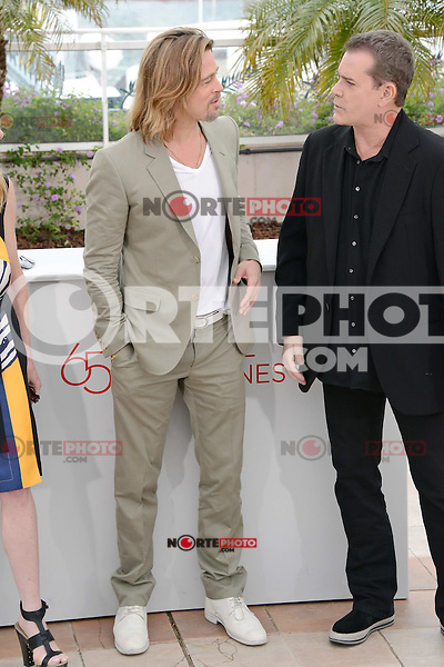 """Brad Pitt and Ray Liotta attending the """"Killing them Softly"""" Photocall during the 65th annual International Cannes Film Festival in Cannes, France, 22nd May 2012..Credit: Timm/face to face /MediaPunch Inc. ***FOR USA ONLY***"""