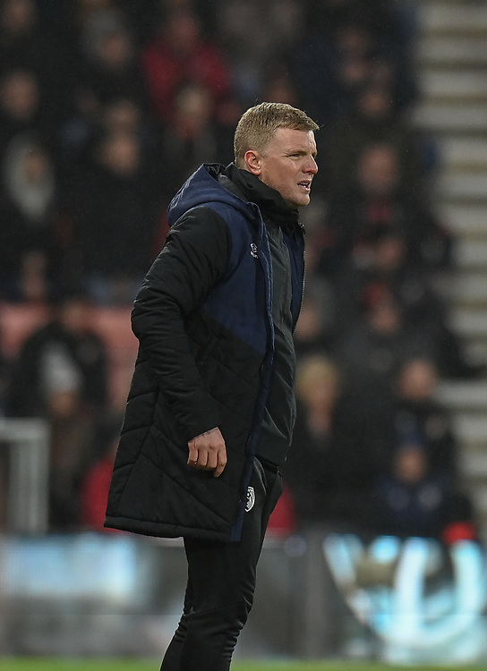 Bournemouth manager Eddie Howe <br /> <br /> Photographer David Horton/CameraSport<br /> <br /> The Premier League - Bournemouth v West Ham United - Saturday 19 January 2019 - Vitality Stadium - Bournemouth<br /> <br /> World Copyright © 2019 CameraSport. All rights reserved. 43 Linden Ave. Countesthorpe. Leicester. England. LE8 5PG - Tel: +44 (0) 116 277 4147 - admin@camerasport.com - www.camerasport.com