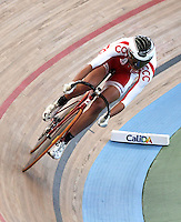 CALI – COLOMBIA – 01-03-2014: Katarzyna Pawlowska de Polonia durante la prueba de Vuelta Lanzada del Omnium Damas en el Velodromo Alcides Nieto Patiño, sede del Campeonato Mundial UCI de Ciclismo Pista 2014. / Katarzyna Pawlowska of Poland during the test of the Women´s Omnium Flying Lap at the Alcides Nieto Patiño Velodrome, home of the 2014 UCI Track Cycling World Championships. Photos: VizzorImage / Luis Ramirez / Staff.