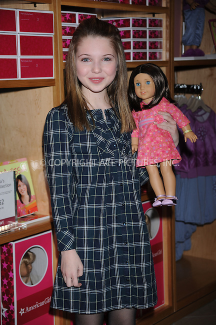 WWW.ACEPIXS.COM . . . . . ....January 9 2009, New York City....Actress Sammi Hanratti made an appearance at the 'American Girl Doll' store in Manhattan on January 9 2009 in New York City.....Please byline: KRISTIN CALLAHAN - ACEPIXS.COM.. . . . . . ..Ace Pictures, Inc:  ..tel: (212) 243 8787 or (646) 769 0430..e-mail: info@acepixs.com..web: http://www.acepixs.com