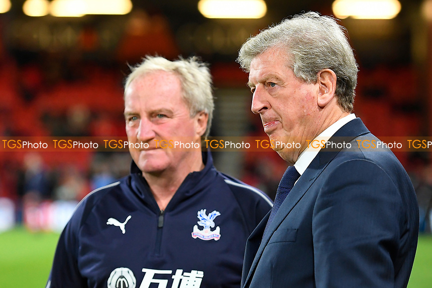 Crystal Palace Manager Roy Hodgson right with Ray Lewington during AFC Bournemouth vs Crystal Palace, Premier League Football at the Vitality Stadium on 1st October 2018