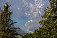 Blick auf den Königssee - Berchtesgaden 17.07.2019: Fahrt auf den Jenner