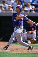 PEORIA, AZ - Matt Williams of the Arizona Diamondbacks bats against the San Diego Padres during a spring training game at the Peoria Sports Complex in Peoria, Arizona in 1998. Photo by Brad Mangin