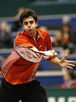 22-2-06, Netherlands, tennis, Rotterdam, ABNAMROWTT, t Mario Ancic in action against Jarkko Nieminnen