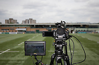 General view of a TV Camera ahead of the British & Irish Cup Final match between Ealing Trailfinders and Leinster Rugby at Castle Bar, West Ealing, England  on 12 May 2018. Photo by David Horn / PRiME Media Images.