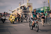 Daniel Oss (ITA/BORA-hansgrohe) crossing the finish line<br /> <br /> Stage 18: Trie-sur-Baïse > Pau (172km)<br /> <br /> 105th Tour de France 2018<br /> ©kramon
