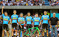 MEDELLIN - COLOMBIA, 10-02-2019: Equipo Selección Colombia Manzana Postobon durante la presentación oficial de equipos que participarán en el Tour Colombia 2.1 2019. / Manzana Postobon Colombia National Team during the presentation of the whole teams that participate inthe Tour Colombia 2.1 2019   Photo: VizzorImage / Anderson Bonilla / Cont