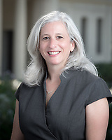 Wendy Sternberg, Vice President for Academic Affairs and Dean of the College, Occidental College.<br /> Photographed July 14, 2017 in the AGC rotunda.<br /> (Photo by Marc Campos, Occidental College Photographer)