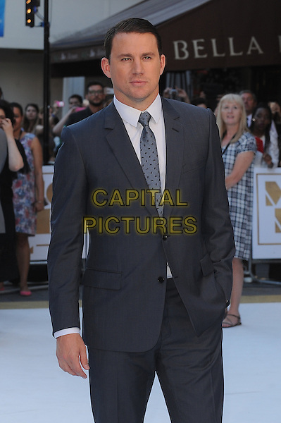 LONDON, ENGLAND - JUNE 30: Channing Tatum attends the European Premiere of Magic Mike XXL at Vue West End on June 30, 2015 in London, England.<br /> CAP/BEL<br /> &copy;Tom Belcher/Capital Pictures