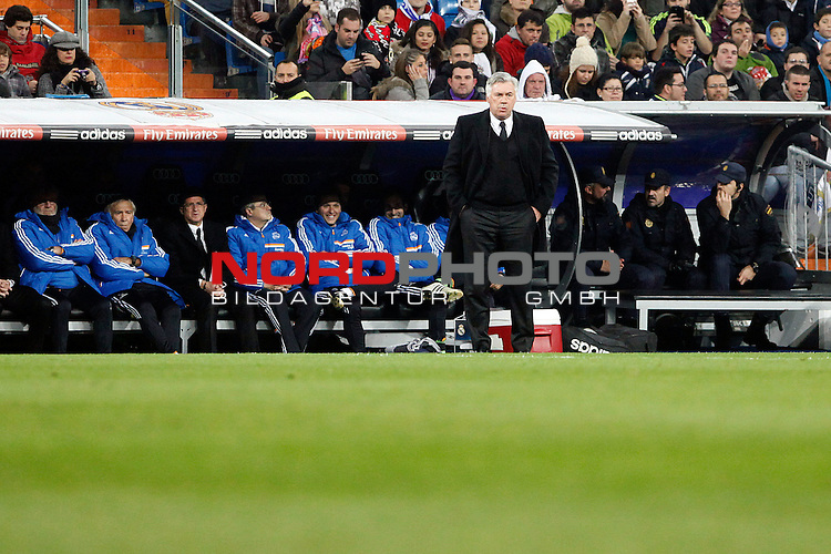 Real Madrid¬¥s Carlo Ancelotti during a Copa del Rey soccer match between Real Madrid and Olimpic de Xativa at Santiago Bernabeu Stadium in Madrid. December 18, 2013. Foto © nordphoto / Caro Marin) *** Local Caption ***